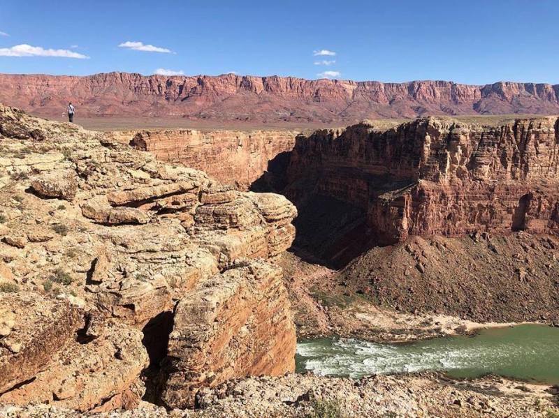 Image of cliffs overlooking rapids.